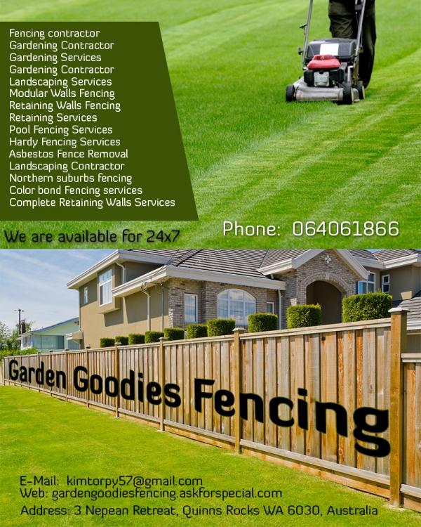 Garden goodies fencing landscape grading perth australia for Landscape design jobs perth